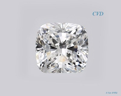 CVD бриллиант 3.71 ct, Cushion, F/VS1